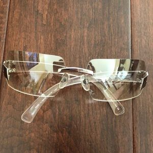 Authentic Chanel clear sunglasses
